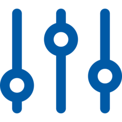 control tower icon (blue)