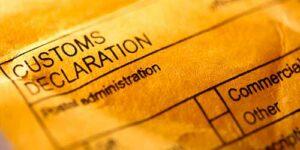 Export Declaration form