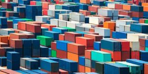 Stack of containers at the port - Electronic Customs Tariff