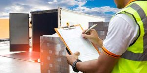 An operator taking records of inventory - Export Consignment