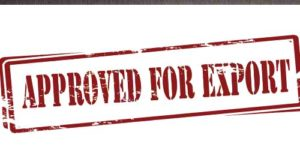 Approval stamp for export - Export Licence