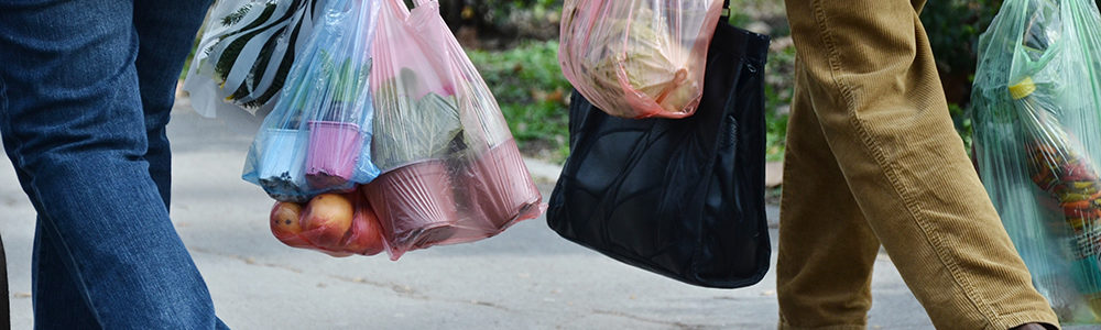 Image showing people carrying plastic bags in Sweden.