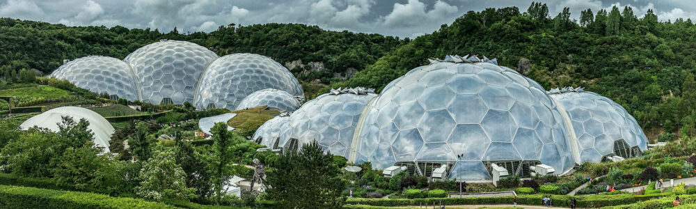 The Eden Project is a botanical garden and climate protection project.