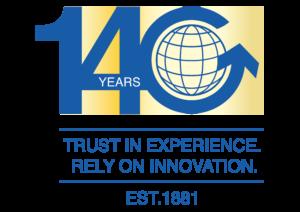 Logo für das Firmenjubiläum von Gerlach Zolldienste