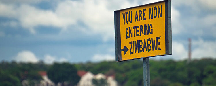 Picture of boder sign zimbabwe